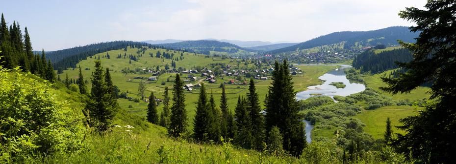 Панорама Спасска, Кемеровская область.
