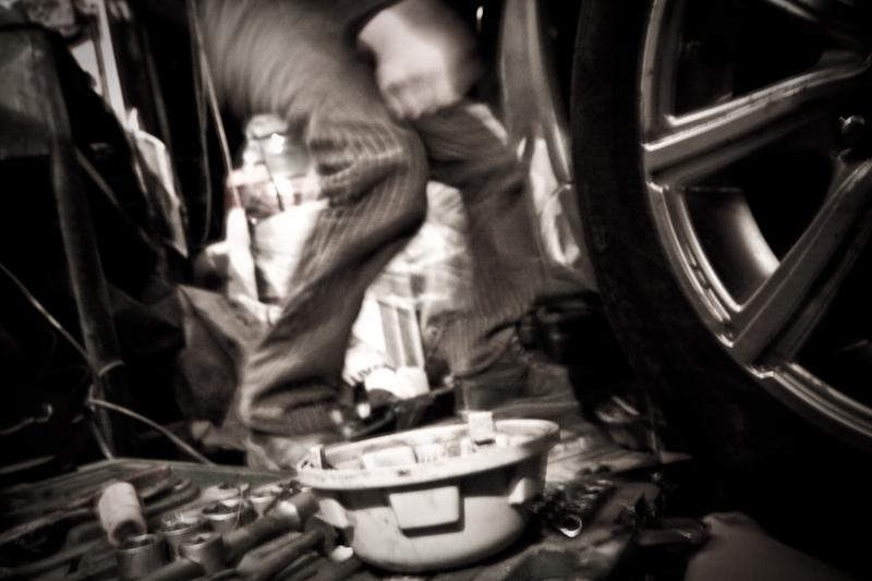 Струцмобиль на ремонте